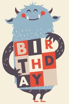 I wish I could draw so I could do a cute illustration about what I was wearing on a certain day. Renee Bates by Greg Abbott Cute Monsters, Little Monsters, Monster Illustration, Graphic Illustration, Birthday Wishes, Happy Birthday, Little Presents, Happy B Day, Cute Characters