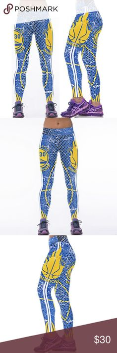Team Sports Leggings Fashion 3D Sublimation NBA Golden State Warriors Basketball Printed Fitness Yoga Gym Team Sports Leggings Pants Leggings
