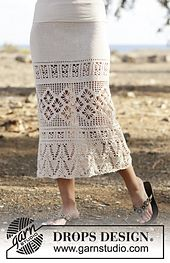 Ravelry: 162-18 Summer Skirt Escape pattern by DROPS design