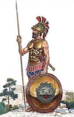 """Athenian Hoplite, V century BC"", Igor Dzis"