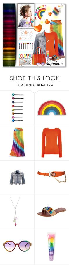 """""""Rainbow Style"""" by eula-eldridge-tolliver ❤ liked on Polyvore featuring Chloé, Cara, Anya Hindmarch, Whistles, Silver Jeans Co., Tiffany & Co., Jeffrey Campbell, Marco de Vincenzo, claire's and women's clothing"""
