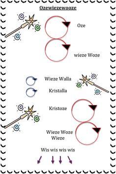 Liedje Ozewiezewoze met bewegingen bij… oefenen voorbereidend schrijven...