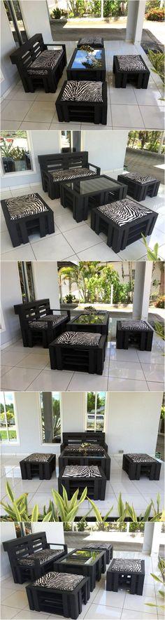 Wood Pallet Made Outdoor Furniture Set