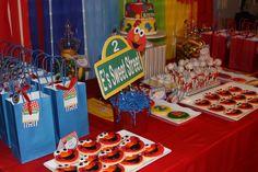 "Elmo party ""sweet street"" table"