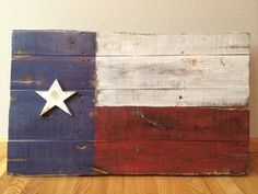 3D Rustic Weathered Texas Flag wall art lone by CraigMoodieDesigns