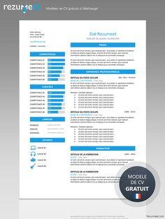 ZEEBURG - Modèle gratuit de Curriculum Vitae classique à télécharger Cv Curriculum Vitae, Infographic Resume, Resume Format, Resume Examples, Coding, Ads, Templates, Grief, Spanish English