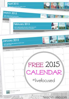 free blank 2015 calendar: get organized STAT and begin the year in the best possible way for your family, children, and YOU!