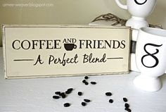 Cute Sign - Lynds you need this!!    Handpainted Wood Coffee Sign by aimeeweaver on Etsy, $20.00