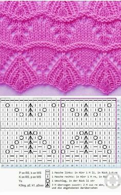Easy Knitting Projects, Knitting Kits, Knitting Charts, Baby Knitting, Knitting Sweaters, Lace Knitting Stitches, Lace Knitting Patterns, Knitting Designs, Stitch Patterns