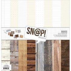 "Simple Stories SN@P! Basics 12"" x 12"" Paper Kit"