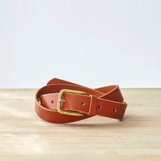 Jenny Tan Leather Hip & Waist Belt with Brass buckle