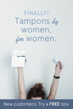 This female-founded company is changing the way we think about tampons. Meet LOLA: organic cotton tampons, pads, and liners delivered right to your door. New customers get a FREE box on their first 2+ box order.