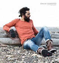 Paraskevas for Adrian Hammond–Swedish label Adrian Hammond enlists Fusion model Paraskevas Boubourakas for their fall/winter 2013 campaign. Hipsters, Photography Poses For Men, Portrait Photography, Beard Love, Man Bun, Comme Des Garcons, Lookbook, Stylish Men, Mens Suits