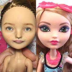 Портретная кукла на заказ #ashlynnella #everafterhigh #ooakdoll #repaintdoll #custom #olgakamenetskaya #dollmakeup