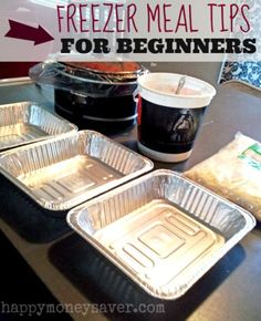 Freezer Meal Tips for Beginners: how to package, and avoid recipes with these ingredients: -Casseroles and soups/stews with potatoes or rice; -Fried foods; -Recipes with fruits and veggies with high water content (celery, cucumber, melon and lettuce); -An