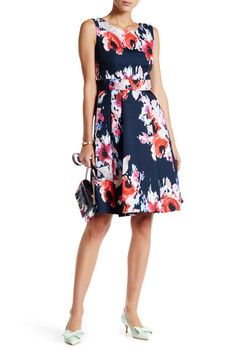 kate spade new york Floral Print Fit & Flare Dress