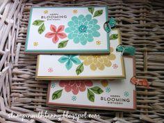 stampin up  ziehkarte slider card flower patch blumen birthday geburtstag effektkarte workshop