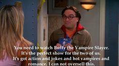 Big Bang and Buffy -- yes