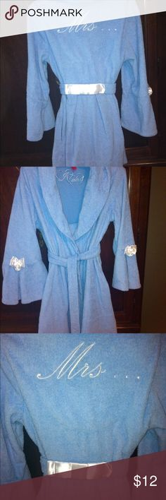 Betsey Johnson terry robe Light blue terry robe, worn once, perfect condition - so cute! Betsey Johnson Intimates & Sleepwear Robes