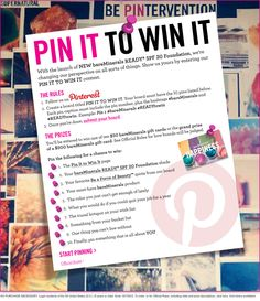 1. The PIN IT TO WIN IT page. #bareMinerals #READYtowin