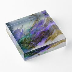 'The Splash' Acrylic Block by Faye Anastasopoulou Purple Living Room Furniture, Decorative Throw Pillows, Decorative Items, Home Office Accessories, Theme Pictures, Colourful Living Room, Fancy Houses, Framed Prints, Art Prints