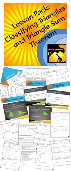 Full lesson pack - includes presentation, printables, inquiry-based activity, algebra applications, and assessment