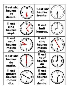 """Bonjour! I just finished my time unit and have some quick ideas for teaching time! Time """"Go Fish!"""" This is a game I created wher..."""