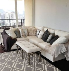 Carly Cristman couch - Pottery Barn, PB Comfort Square sectional in Ivory.