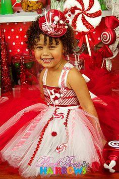 Peppermint Tutu Dress Christmas tutu dress by GlitterMeBaby, $70.00