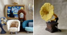 I Felt Tiny Antique Furniture From Wool | Bored Panda