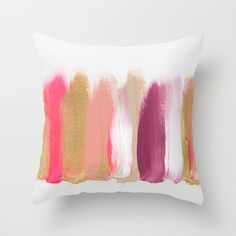 What a find! Society 6!!!!!!!!! Colors 201 Throw Pillow by JenRamos | Society6