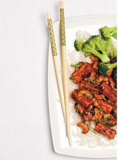 Ricardo& recipe : Tofu and Cashew Stir-Fry Stir Fry Recipes, Tofu Recipes, Asian Recipes, Healthy Recipes, Healthy Food, Vegetarian Breakfast, Vegan Vegetarian, Vegetarian Recipes, Vegan Food