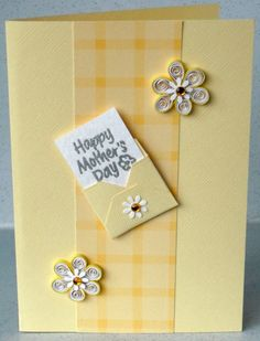 Quilled Mother's Day card with quilling. The envelope could be made using #tombow 's Stamp Runner, Dot Pattern Adhesive  https://tombowusa.com/craft/detail/62162