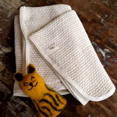 beautiful woven baby blanket by fog linen