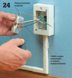 Instalaciones eléctricas residenciales - Derivando cable de fase del contacto original