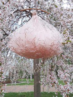Beautiful Dress amongst the Cherry Tree Blossoms~❥
