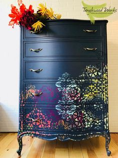 SOLD-French Provincial Dresser Walks on the Wild Side This gal might have conservative provincial bones but she is all urban style with her new Funky Furniture, Decor, Funky Home Decor, Furniture Rehab, Painted Furniture, Furniture Inspiration, Vintage Furniture, Redo Furniture, Home Decor