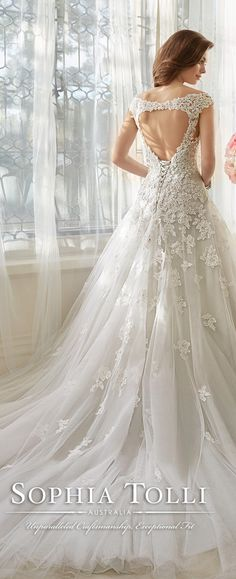sophia tolli keyhole back misty gray wedding dresses spring 2016 Y11635