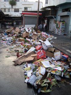 Piles of rubbish.