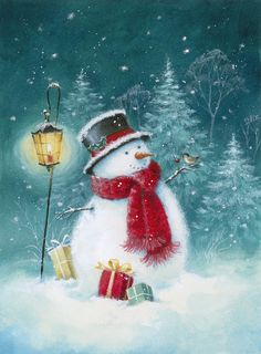 Leading Illustration & Publishing Agency based in London, New York & Marbella. Christmas Scenes, Christmas Snowman, Winter Christmas, Christmas Crafts, Christmas Decorations, Christmas Ornaments, Xmas, Illustration Noel, Christmas Illustration