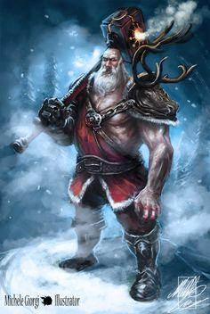 Michele Giorgi Illustrator                     : Santa is Coming.....PREPARE YOURSELF .....
