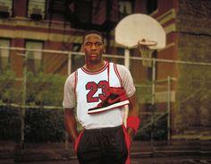 "Michael Jordan Mid 80s Nike Air Jordan Promo Shot // Jordan Brand Announces the Return of the Air Jordan 1 Retro High ""Banned"" - EU Kicks: Sneaker Magazine"