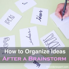 Tips to help you organize your ideas after a brainstorm. Office Organization At Work, Organisation Hacks, Organization Ideas, Getting Organized At Home, Getting Rid Of Clutter, Home Office Layouts, Declutter Your Life, Improve Yourself, Spare Room