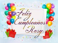 Imágenes de feliz cumpleaños con nombre de mujeres | Descargar imágenes gratis Happy Birthday Images, Happy Birthday Wishes, Heart Garland, Birthdays, Birthday Cake, Place Card Holders, Baby Shower, Facebook, Belem