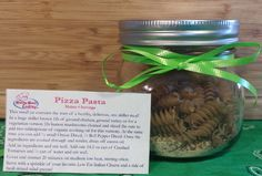 Pizza Pasta Gift Jar - Healthy Food Gifts - Kids Cooking Class