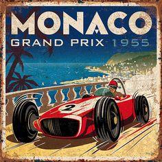 vintage Monaco GP 1955 Bruno pozzo © 2018