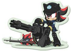Shadow with a gatlin gun! heck yea!