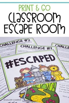 Print & Go Classroom Escape Rooms are my an ABSOLUTE MUST in my classroom! This Escaping Oz challenge helps students collaboratively review characters. These are NO prep for the teacher and an activity that the students absolutely love!