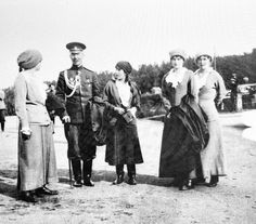 "The Grand Duchesses Maria, Anastasia,Tatiana and Olga Nikolaevna Romanova of Russia in 1916.   ""AL"""