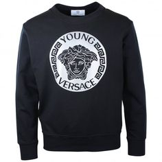 fda6d23bd Young Versace boys black sweatshirt. #versace #youngversace #sweatshirt